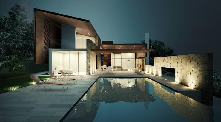 La zona piscina: Case in stile  di Storm Studio Architecture, Moderno