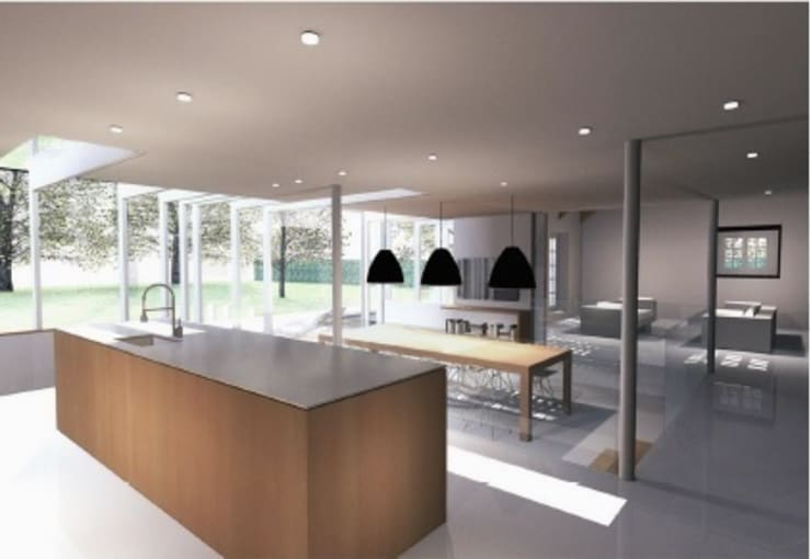 Andover Road:  Kitchen by IQ Glass UK