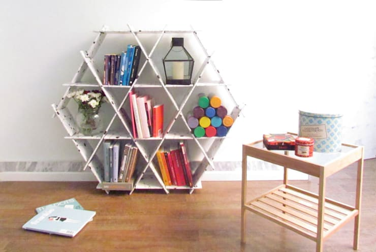 Ruche size Large - cardboard:  Living room by Ruche shelving unit