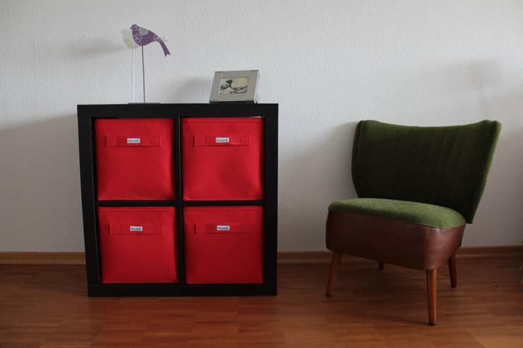 Regalkörbe aus Filz:  Wohnzimmer von Stich-haltig,