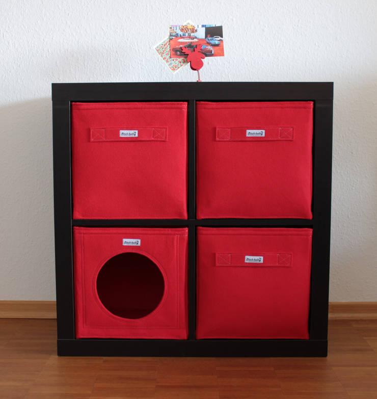 Regalkörbe aus Filz - Rot:  Wohnzimmer von Stich-haltig,