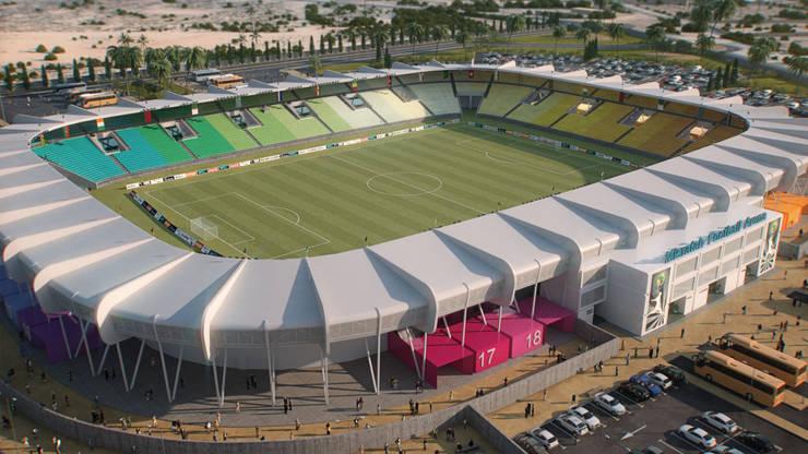 Nuevo Estadio de Misratah en Libia. 20K:  de estilo  de Javier Garcia Alda arquitecto