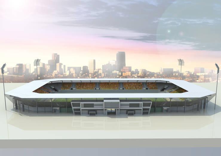 5 Prototipos de estadio en Libia. 10K:  de estilo  de Javier Garcia Alda arquitecto