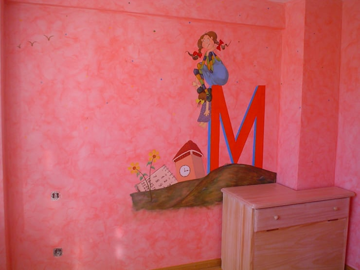 Dormitorios niños: Habitaciones infantiles de estilo  de Pinturas oliváN