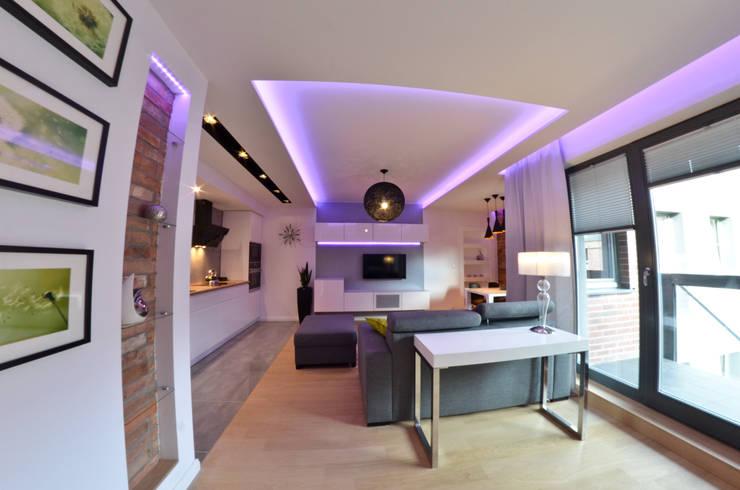 Mieszkanie Gdańsk - 50m2 - 2015: styl , w kategorii Salon zaprojektowany przez Pracownia Projektowa Studio86