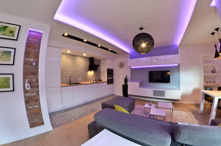 Mieszkanie Gdańsk – 50m2 – 2015: styl , w kategorii Kuchnia zaprojektowany przez Pracownia Projektowa Studio86