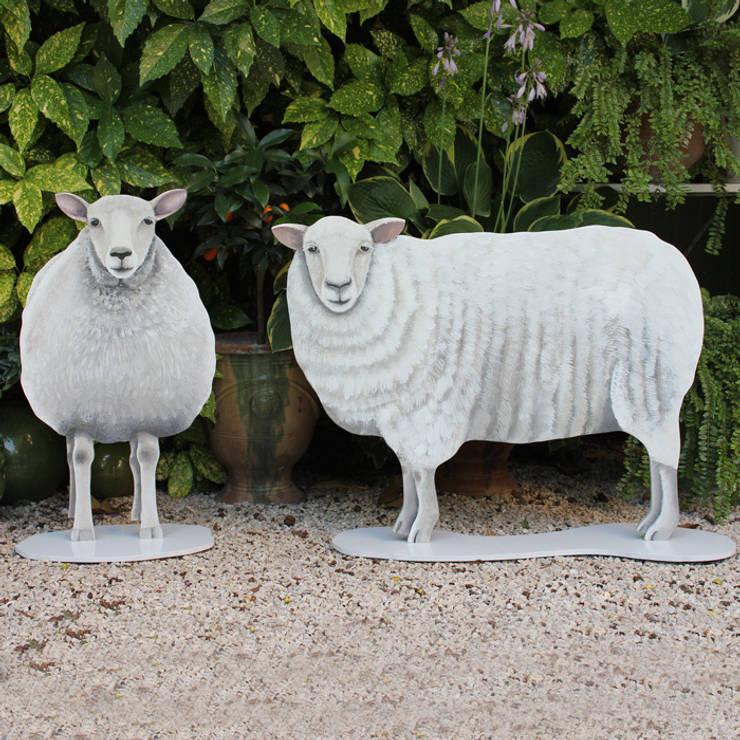 Moutons en bois découpé: Art de style  par Rondeur des Jours