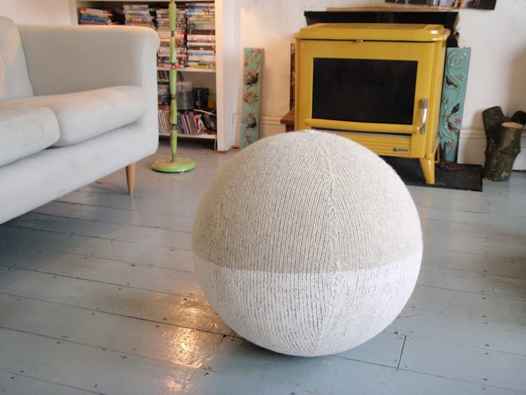 Rock and Snow Seating Sphere:  Living room by Mary Goodman
