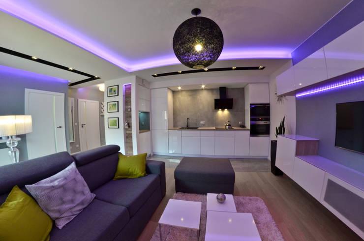 Mieszkanie Gdańsk - 50m2 - 2015: styl , w kategorii Kuchnia zaprojektowany przez Pracownia Projektowa Studio86