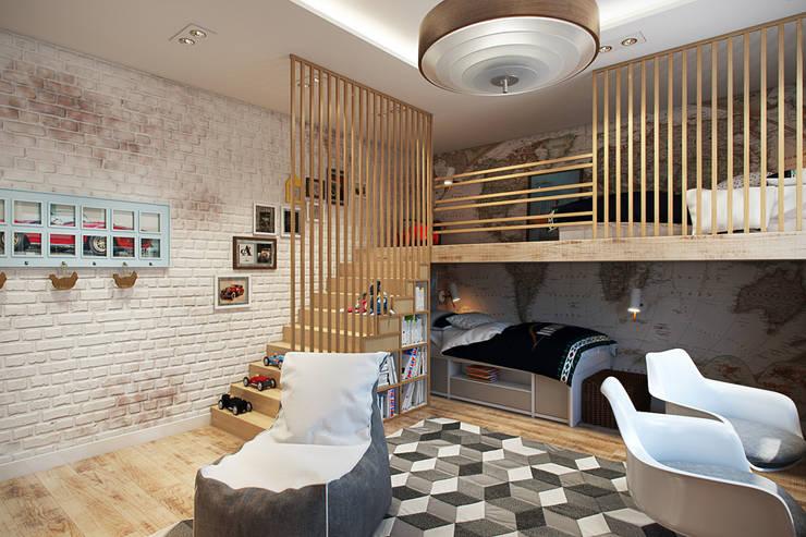Детская: Детские комнаты в . Автор – Дарья Баранович Дизайн Интерьера