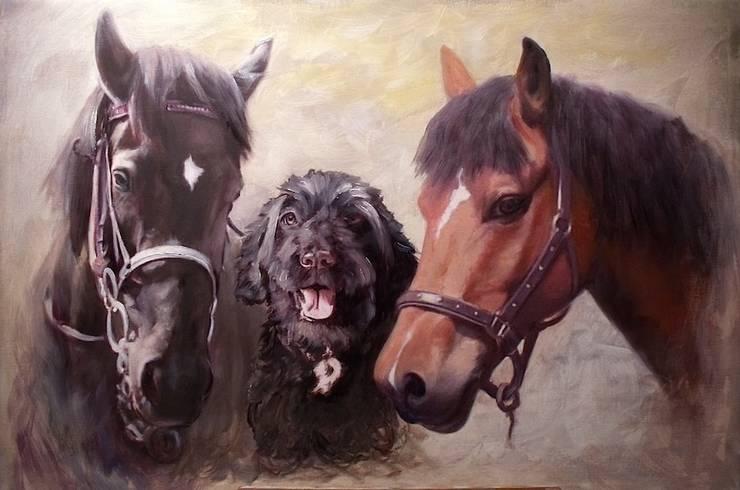 Happy trio:  Artwork by ThomasAdamskiArt