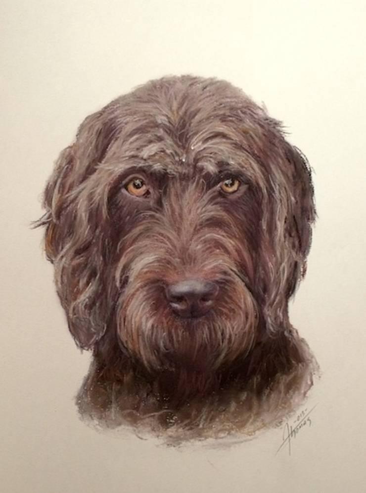 Dog portraits:  Artwork by ThomasAdamskiArt