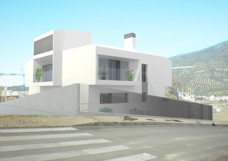 Vivienda unifamiliar en Los Villares:  de estilo  de Ricardo ortega & Asociados. Arquitectos