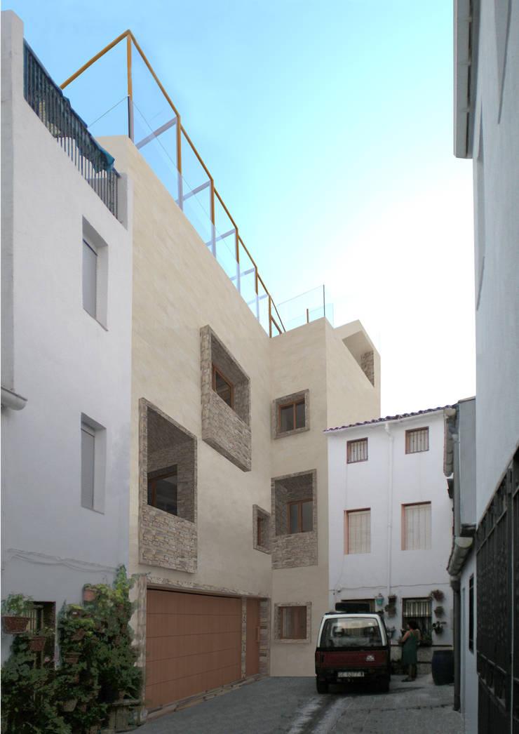 Vivienda unifamiliar en Bélmez de la Moraleda:  de estilo  de Ricardo ortega & Asociados. Arquitectos