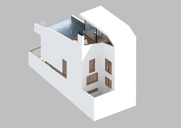 Vivienda unifamiliar en Torrenueva:  de estilo  de Ricardo ortega & Asociados. Arquitectos