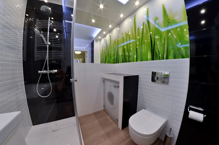 Mieszkanie Gdańsk - 50m2 - 2015: styl , w kategorii Łazienka zaprojektowany przez Pracownia Projektowa Studio86