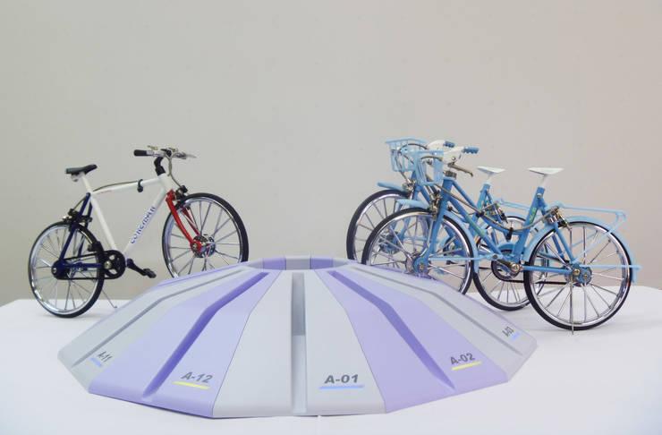 電磁ロック駐輪ラック    Electromagnetic lock bicycle parking rack : YUMIKA Designが手掛けたガレージ&小屋です。