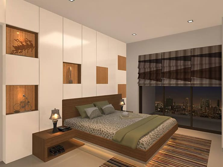 s k designs - contemporary residence in Andheri: modern Bedroom by S K Designs