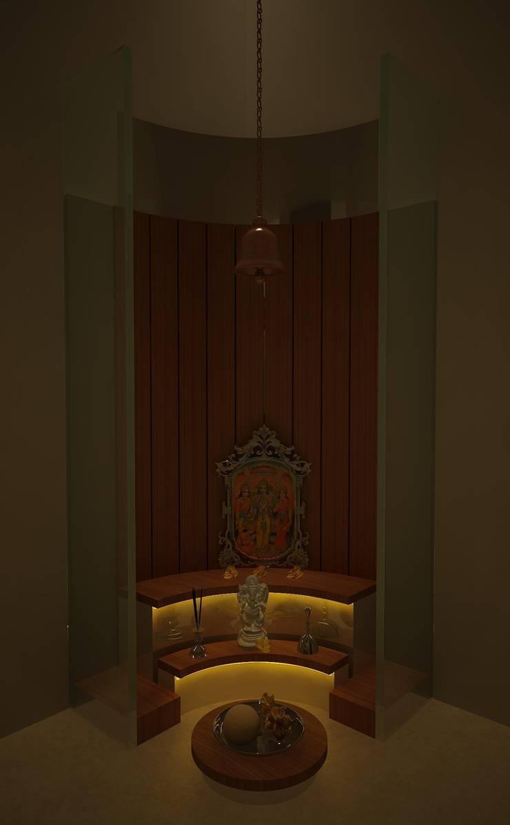 pooja room:   by Drashtikon designer consultant (kamal maniya)