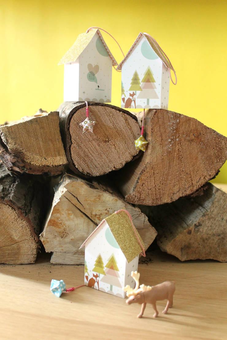 Cabane <q>Woody</q> Les Colocataires : Chambre d'enfants de style  par Les Colocataires