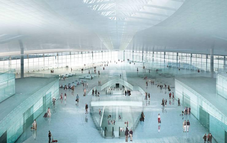 New Satellite Terminal Building at Barcelona Airport:  de estilo  de Ricardo Bofill Taller de Arquitectura