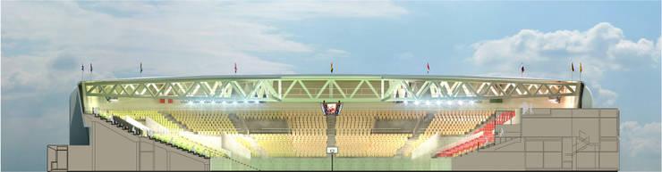Pabellón polideportivo de Benghazi. 5.5K:  de estilo  de Javier Garcia Alda arquitecto