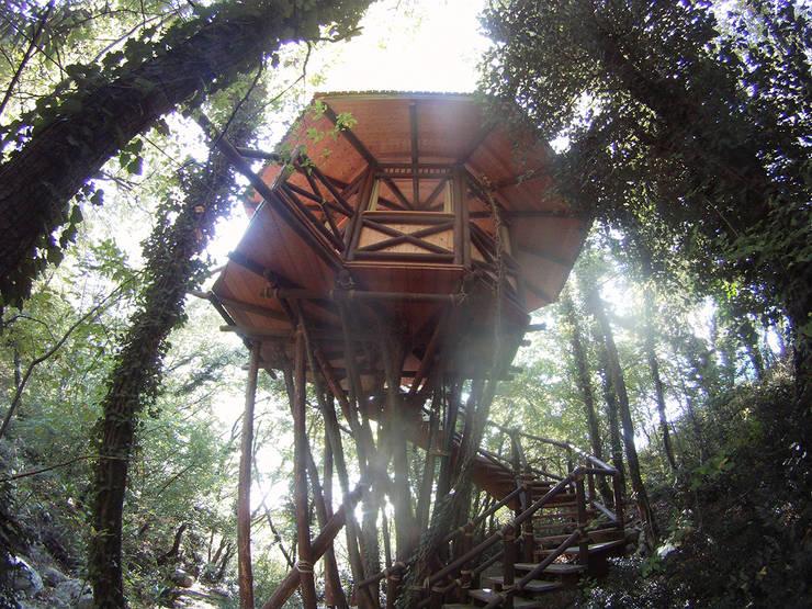 Casa sull'albero: Case in stile  di Tree Top Builder