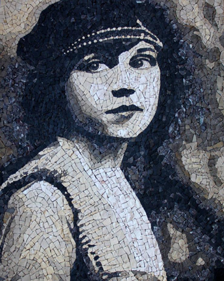 Actrice d'autrefois: Murs & Sols de style  par MOSAIQUES PATRIZIO