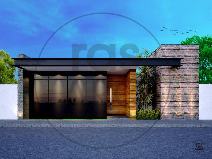 FACHADA : Casas de estilo  por rasARQ