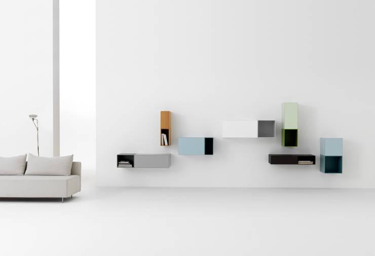 VISION & BOXES: minimalistische Woonkamer door Pastoe