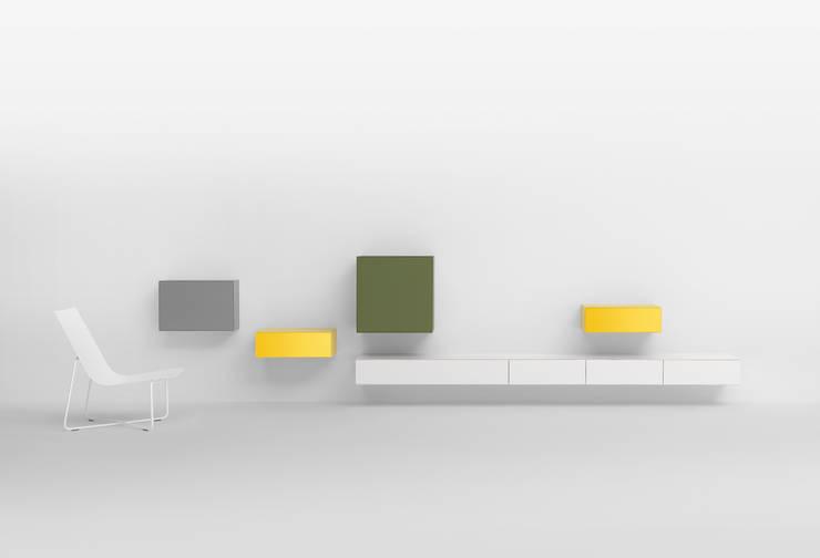 VISION ELEMENT_COMBINATION LC03: minimalistische Woonkamer door Pastoe
