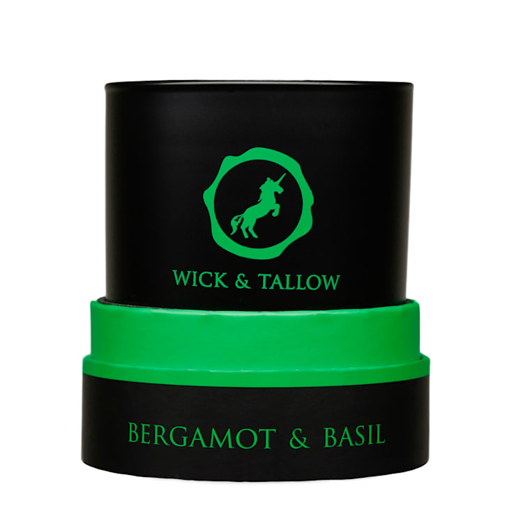 Wick & Tallow Bergamot & Basil Candle:  Household by Wick & Tallow