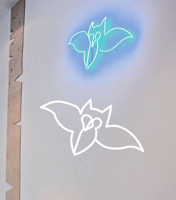 Neony we wnętrzach: styl , w kategorii Centra kongresowe zaprojektowany przez neonlove,Minimalistyczny