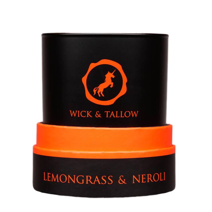 Wick & Tallow Lemongrass & Neroli Candle:  Household by Wick & Tallow