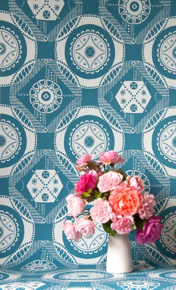Hanbury wallpaper by Kate Farley:  Walls & flooring by Kate Farley