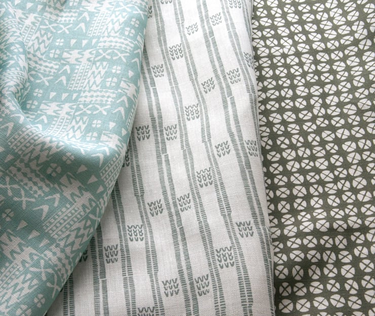 Plot to Plate textiles by Kate Farley: modern Living room by Kate Farley