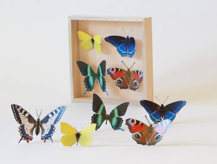 """Wand-Deko """"Schmetterlinge Vielfalt"""", 9 Tagpfauenauge, Zitronenfalter, Schwalbenschwanz:  Wände & Boden von Paperwolf,"""