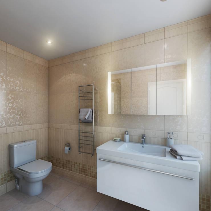 Guest Bathroom:  Bathroom by Hampstead Design Hub