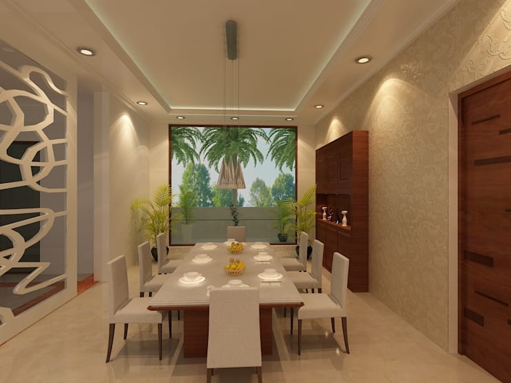 Dining Room:   by SS Design Group