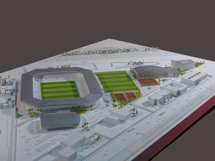 Complejo deportivo el Club universitario de Al Talaba en Baghdad. 15K:  de estilo  de Javier Garcia Alda arquitecto
