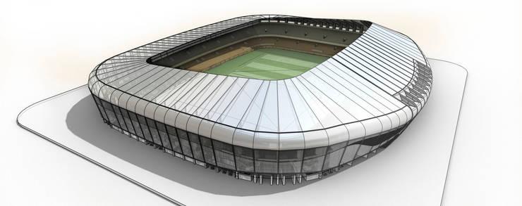 Nuevo Estadio de Salahedin en Irak. 30K:  de estilo  de Javier Garcia Alda arquitecto