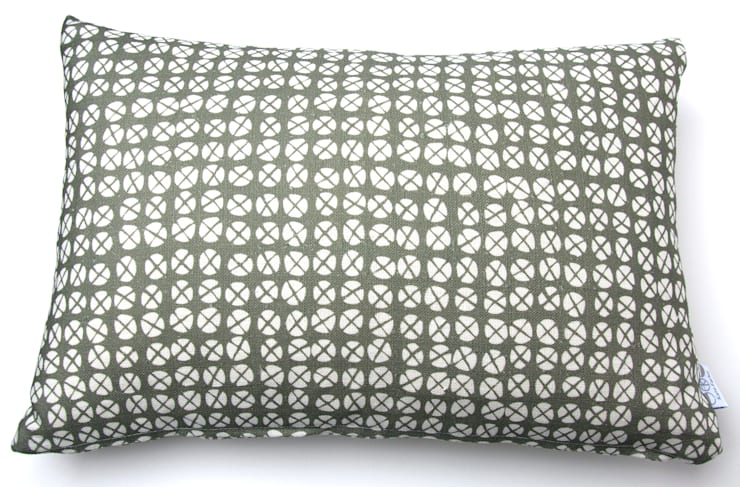 Plot to Plate XO oblong cushion by Kate Farley:  Living room by Kate Farley