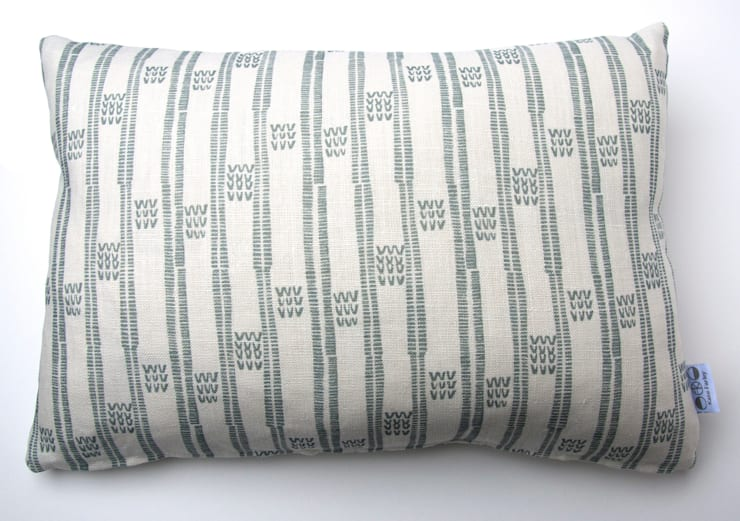 Plot to Plate VVV oblong cushion by Kate Farley:  Living room by Kate Farley