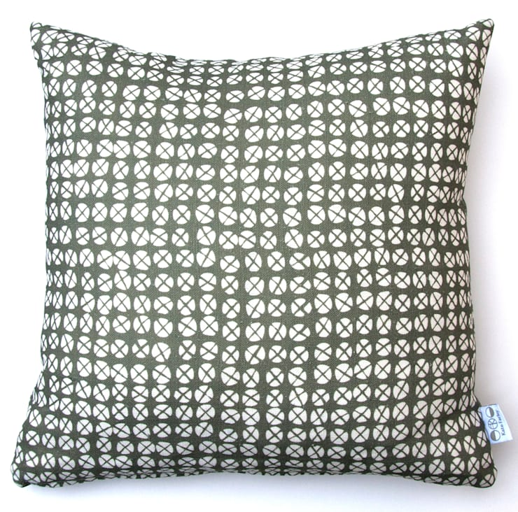 Plot to Plate XO square cushion by Kate Farley:  Living room by Kate Farley
