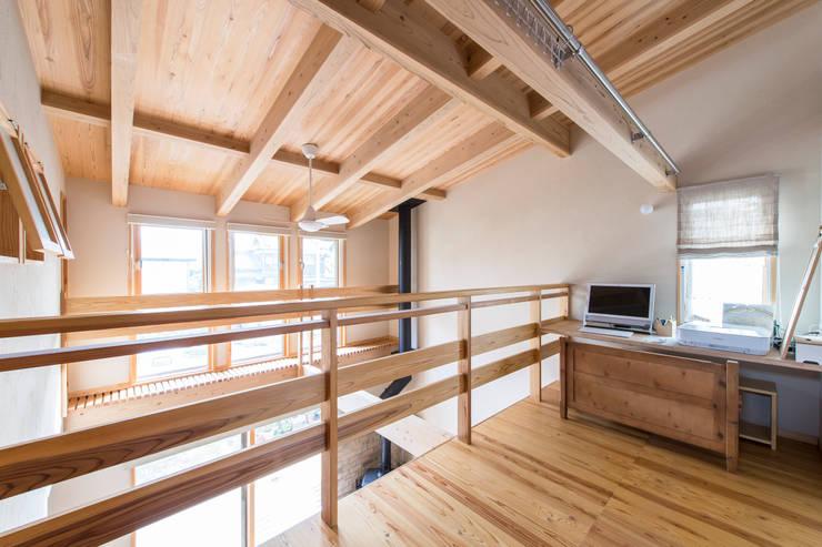 田村の家 ミニマルデザインの 書斎 の Sola sekkei koubou ミニマル