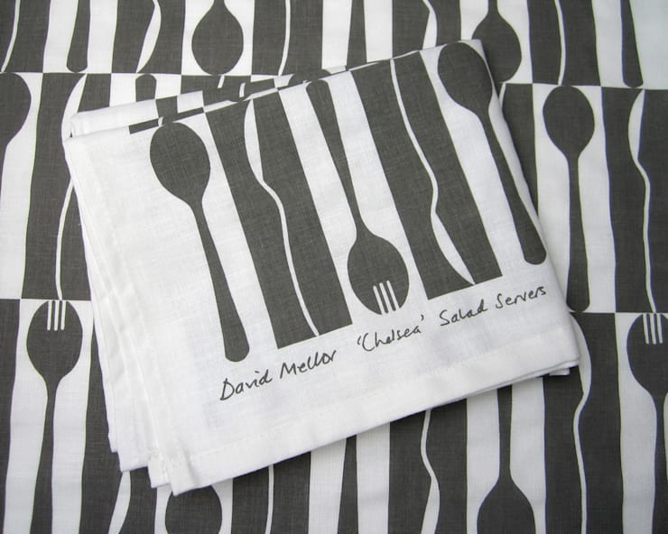 'Chelsea' David Mellor tea towel by Kate Farley:  Kitchen by Kate Farley