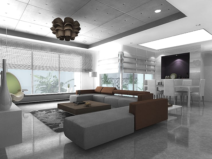 Living room:  Houses by Play Design Studio