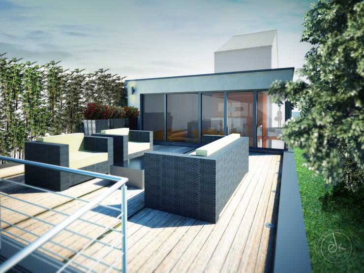 Les Terrasses: Maisons de style  par èk Architectes & Designers