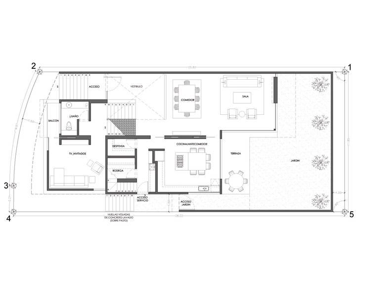 Casa AA:  de estilo  por ze arquitectura