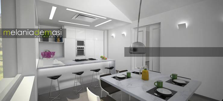 Estatuario Kitchen: Cucina in stile  di melania de masi architetto, Moderno